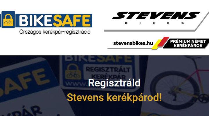 BikeSafe országos kerékpár-regisztráció! Hogyan regisztráljam Stevens kerékpáromat a BikeSafe adatbázisába?